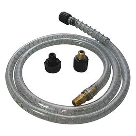 Dispensing Hose for Round Container: Quick-Connect Pump Hose, 5 ft Hose Lg, 1/2 in Hose OD, Black/Clear