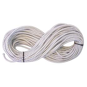 Stretchable Cord: 1/2 in Cord Dia, Nylon, Rubber, 100 ft Cord Lg, White