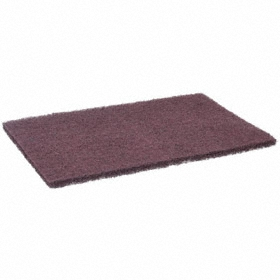 3M Rectangle Pad: Very Fine Relative Grit Grade, Aluminum Oxide, 6 in Overall Wd, 9 in Overall Lg, 60 PK