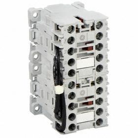 GE Miniature IEC Contactor: 3 Poles, Single/Three Phase, 6 A Current Rating, 24V AC Control Volt, Reversing, Miniature Body