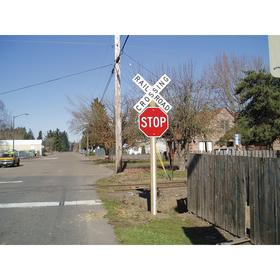 Sign Post Panel Reflector: For Square Sign Posts/U-Channel Sign Posts/Wood Sign Posts, 60 in Overall Lg, 3 in Overall Wd