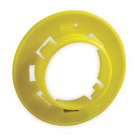 Snap-In Grommet: Slotted Grommet, 1 5/16 in ID, 1 11/32 in OD, Polyethylene, Yellow