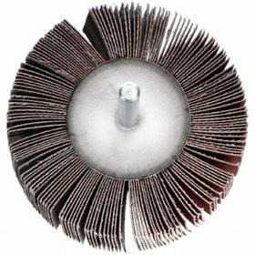 ARC Flap Wheel: Very Fine Relative Grit Grade, Unthreaded Shank, 1 in Wheel Dia, 1 in Face Wd, 1/4 in Shank Dia, 180 Grit