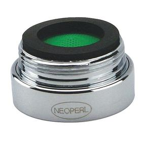 """Faucet Aerator: Aerated, 1.5 gpm Flow Rate, 15/16""""-27 Inlet Thread Size, Male, Acetal/Brass, NSF/ANSI 61, Silver"""