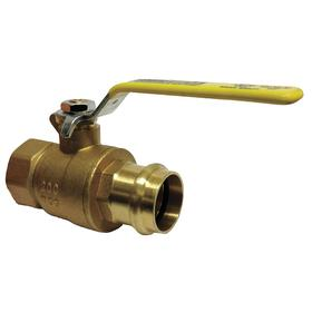 Ball Valve: 2-Piece, Full Port Classification, Brass, Stainless Steel, Lever, NPT, 3/4 in Pipe Size (Port 1), Steel, Female