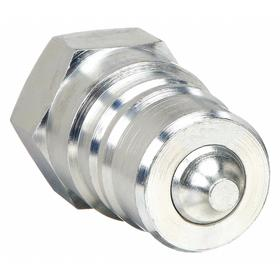 Eaton Quick-Disconnect Plug: 1 in Coupling Size, Carbon Steel, Buna-N, 1 Pipe Size, NPT, Female, Valved