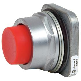Siemens Push Button Operator: Non-Illuminated, Extended Operator, Momentary, Red, Chrome Plated Zinc Die Cast, Chrome