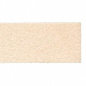 Grade F1 Felt Strip: Plain, 12 in Lg, 1/2 in Thickness, 1 in Wd