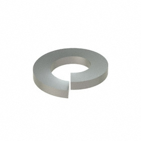 Split Lock Washer: 316 Stainless Steel, For M4 Screw Size, 4.1 mm ID, 7.6 mm OD, 0.9 mm Thickness, 50 PK