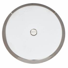 Cover Plate: 5 in Pipe Size, 5 in Overall Dia, 24 ga Compatible Pipe Gauge