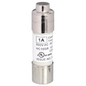 UL Class Fuse: 1 A Current Rating, 600V AC, Time Delay, 10kA at 500V AC Interrupt Rating (AC), 13/32 in Dia, 5 PK