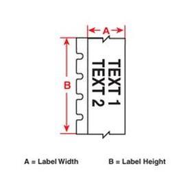 Brady Desktop Printer Label: For Brady BBP85, Gen Purpose, Gen Purpose Vinyl, Green, 4 in Label Wd, 50 ft Roll Lg