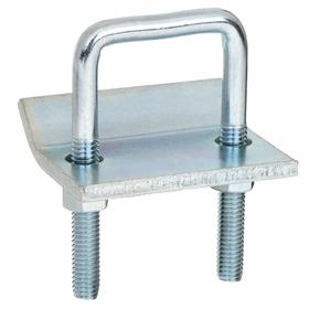 Beam Clamp: Vertical Mount, Channel to Beam Clamp, For 1/4 Rod Size, 61 1/2 mm Overall Lg, 1200 lb Top Load Capacity