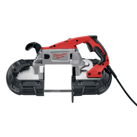 Milwaukee Corded Handheld Band Saw: 120V, 5 in Round Cutting Capacity, 300 SFPM Min Blade Speed, 11 A Current