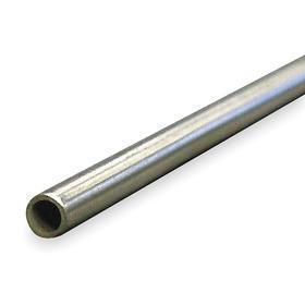 Aluminum Tubing: 6 ft Overall Lg, 3003-H14 Material Grade, Seamless, 1 in OD, 0.065 in Wall Thickness, 0.870 in ID
