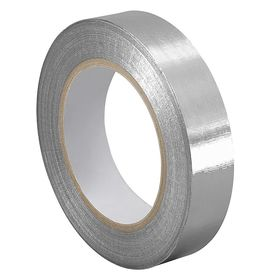 Foil Tape: Aluminum, Extreme Temp, 2 in Overall Wd, 0.0068 in Overall Thickness, 36 yd Overall Lg, Silicone