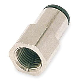 Parker Hannifin Push-to-Connect Tube Connector: Female, 5/16 in Port 1 Tube Size, 1/4 Pipe Size (Port 2), NPT, 10 PK