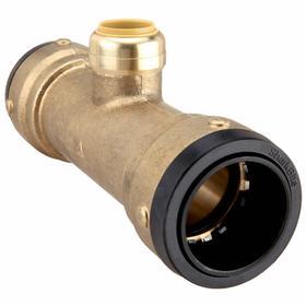 SharkBite Push-to-Connect Tube Fitting: Tee, DZR Brass, Female, 200 psi Max Op Pressure, 20° F Min Op Temp, Brass