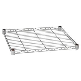 Wire Shelf: 600 lb Max Load Capacity, Chrome Plated, 72 in Wd, 36 in Dp