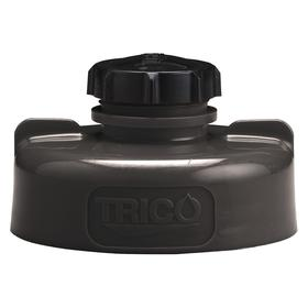 Quick-Identify Lid: Rectangular, Pump/Pour, Black, High-Density Polyethylene, 5 3/4 in Lid OD, 3 1/4 in Overall Ht