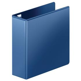 Document Binder: Clear Sleeve, 3 in Ring Size, D-Ring, 750 Sheet Capacity, Navy, For 8 1/2 in x 11 in Sheet Size