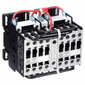 GE IEC Magnetic Contactor: 3 Poles, Single/Three Phase, 17 A Current Rating, 24V AC Control Volt, Reversing
