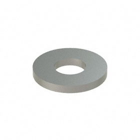 Flat Washer: 18-8 Stainless Steel, For No. 8 Screw Size, 0.188 in ID, 0.437 in OD, 0.049 in Thickness, 50 PK