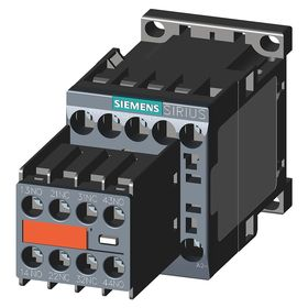 Siemens IEC Contactor: 3 Poles, Single/Three Phase, 12 A Current Rating, 1/2 hp - Single Phase @ 120V, Screw Terminal