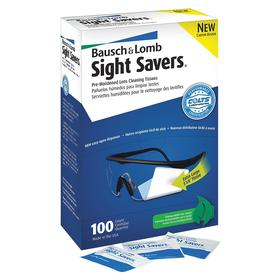 Eyewear Moist Wipe: 8 in Wipe/Tissue Lg, 5 in Wipe/Tissue Wd, 100 Wipes/Tissues, Individually Wrapped, 100 PK