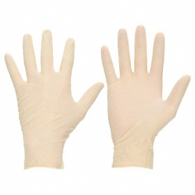 Ansell Microflex Ultra One Disposable Glove: Latex, L Size, 9.8 mil Glove Material Thickness, 11 3/4 in Glove Length, 50 PK