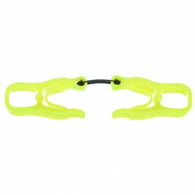 Dual Clip Glove Holder: Yellow, High-Visibility, Dielectric, Safety Breakaway, 1 PR