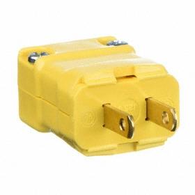 Hubbell Corrosion-Resistant NEMA Straight-Blade Plug: 2 Blades, Straight Connection Orientation, 1-15 NEMA Configuration, 125V AC