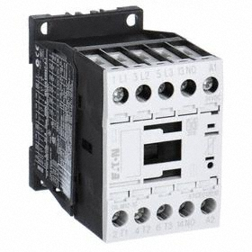 Eaton IEC Magnetic Contactor: 3 Poles, Single/Three Phase, 12 A Current Rating, 24V AC Control Volt, Silver Alloy, Std Body