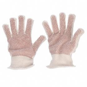 Heat-Resistant Glove: Fabric Glove, Left/Right Pr, Added Grip, 400° F Max Temp, 10 3/4 in Glove Lg, Knit Cuff, 1 PR