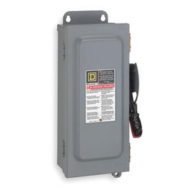 Schneider Electric Heavy Duty Safety Disconnect Switch: Three Phase, 3 Poles, Steel, 100 A @ 240V AC Switch Rating