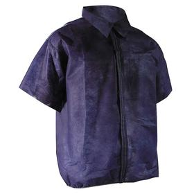 Disposable Smock: 10000 Federal 209E Clean Room Class, 5XL Size, Polypropylene, Blue, Hook & Loop, 0 Pockets, 50 PK