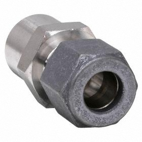 Parker Hannifin Stainless Steel Instrumentation Tube Connector: Butt-Weld Adapter, 3/8 in Port 1 Tube Size, Butt Weld