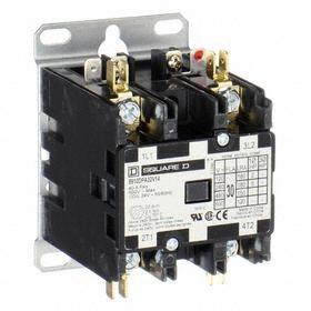 Schneider Electric Definite Purpose Contactor: Std Body, 110/120V AC Input Volt, 2 Poles, 30 A Input Current