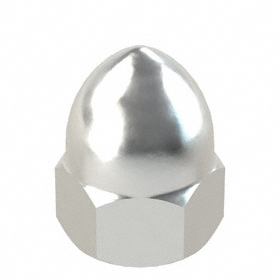 """High Crown Acorn Nut: Aluminum, 3/8""""-16 Thread Size, 15/32 in Thread Dp, 25/32 in Overall Ht, 9/16 in Wd"""