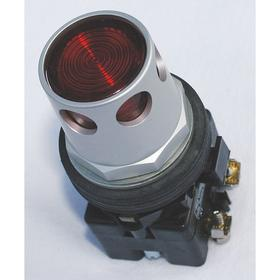 Eaton Illuminated Push Button: 12 A @ 600V AC Contact Rating, Extended Operator, 2NO/2NC Pole-Throw Configuration, Red
