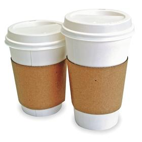 Disposable Sleeves: 100 % Recycled Content, Paper, Large Size, For 12 fl oz/16 fl oz/20 fl oz Cup Capacity, 1200 PK