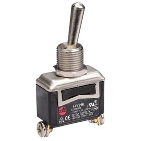 General Duty Toggle Switch: Non-Illuminated, 2 Positions, 20 A @ 125V AC Switch Rating, 2 Poles, On-Off, SPST, Momentary, 2 Connections