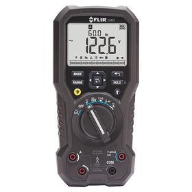 FLIR Multimeter: 1000 V AC Max AC Volt Detected, 10 A Max AC Current Detected, 1000 V DC Max DC Volt Detected, LCD, Backlit
