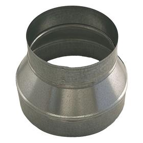 Duct Adapter: Reducer, 24 ga Thickness, 8 in Inlet Dia, 7 in Outlet Dia, 6 in Lg