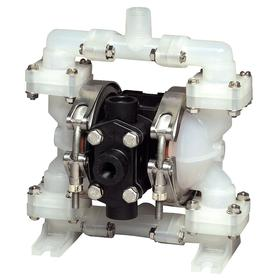 Warren Rup Air-Operated Double Diaphragm Pump: Santoprene, Single, 1/4 in Air Connection Pipe Size, 4 gpm Max Flow Rate