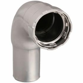 Viega Push-to-Connect Tube Fitting: Elbow, Carbon Steel Body, 3/4 in Port 1 Tube Size, 3/4 in Port 2 Tube Size, 0° F Min Op Temp