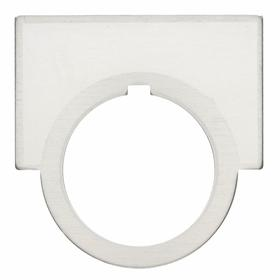 Blank Legend Plate: 30 mm Compatible Panel Cutout Dia, 1/2 Round, 1.44 in Overall Ht, 2 in Overall Wd