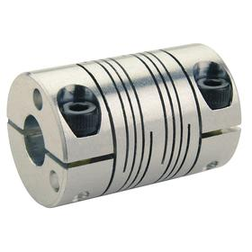 Metal Beam Shaft Coupling: Inch, Aluminum, 6 Beams, 5/8 in Side A Bore Dia, 5/8 in Side B Bore Dia, 1 1/2 in OD