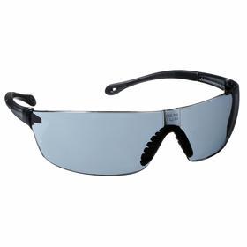 Gateway Safety Safety Glasses: Gray, Frameless Frame, Anti-Fog/Scratch Resistant, Black/Gray, Polycarbonate, Black
