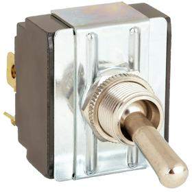General Duty Toggle Switch: Non-Illuminated, 2 Positions, 15 A @ 125V AC Switch Rating, 3 Poles, On-Off, 3PST